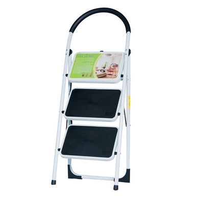 NEW EN131 Folding 3 Step Ladder Home Depot Lightweight 300 lb Capacity Anti-slip
