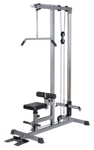 Lat Pull Down Machine  Pulldown Low Row Bar Fitness Body Workout Gym