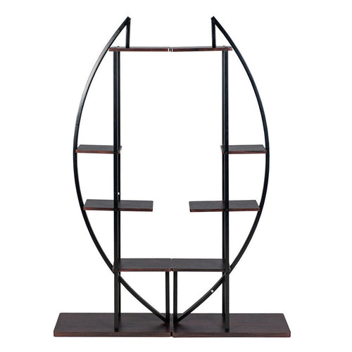5 Tier Plant Stand Multi-Purpose Curved  Display Plant Shelf Rack Home 2 Pack