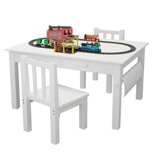 Load image into Gallery viewer, Kids Art Drawing Table and Chair Set Activity Play Center Study Desk Craft Board
