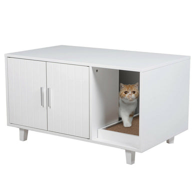 Modern Pet Crate Cat Washroom Hidden Litter Box Enclosure House Table