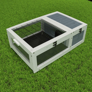 Wood Tortoise House Indoor Turtle Habitat Reptile Cage Removable Waterproof Tray