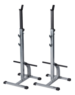 Squat Rack Bench Press Barbell Stand Adjustable Power Lifting Weight Plate Rack