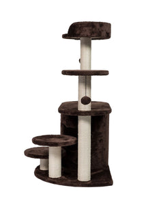 Cat Tree Pet Condo Kitten Scratching Post Activity Center Play House Steps Toy