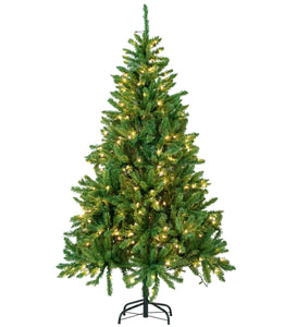 6ft Christmas Tree Artificial Pre-Lit Xmas Tree Lighted Party Decor 300 Lights
