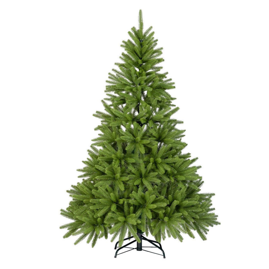 6FT Artificial Christmas Trees Fir Spruce Full PE Tree Flame Retardant