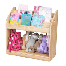 Load image into Gallery viewer, Kids Book Shelf Toy Storage Bookcase Playroom Toy Organizer Solid Wood Bookshelf
