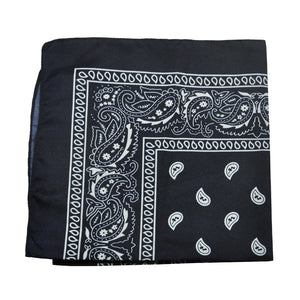 12 Pack Cloth Paisley Print Scarf Bandana Kerchief Head Wrap Face Mask