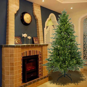 6FT Artificial Christmas Tree Fir Spruce Full Tree PE & PVC Mix Flame Retardant