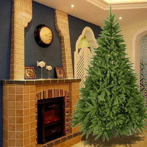 7FT Artificial Christmas Trees Fir Spruce Full PE Tree PE Flame Retardant