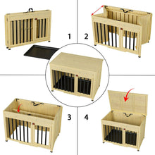 Load image into Gallery viewer, No Assembly Foldable Indoor Wood Dog Crate Pet Cage Portable House w/ Tray