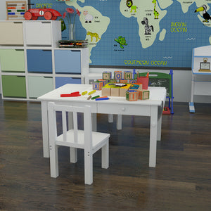 Kids Art Drawing Table and Chair Set Activity Play Center Study Desk Craft Board