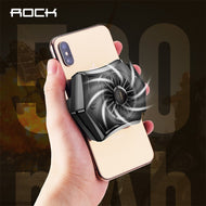 ROCK Retractable Mobile Phone Cooling Pad Game Cooler Fan Holder Gaming Mute Radiator Controller Heat Sink for iPhone Samsung