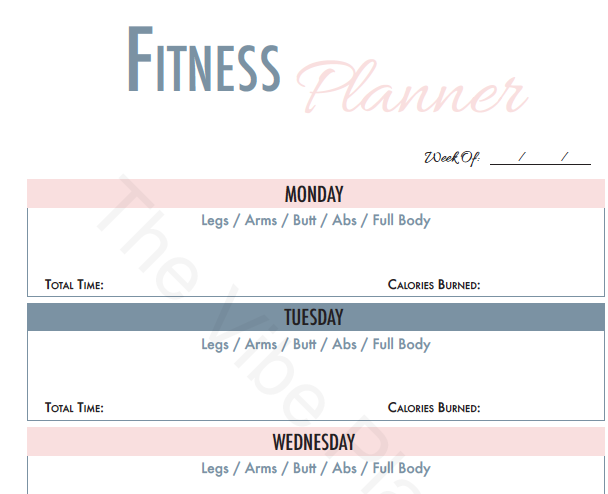 Fitness & Finance Printable Worksheet | Goodnotes Compatible