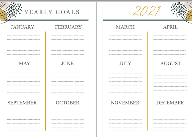 2021 Digital Vibes ✨ - Printable Planner