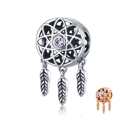 Gold/Silver dream catcher charm