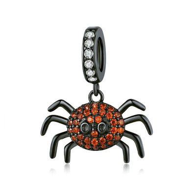 Red jaded spider pendant