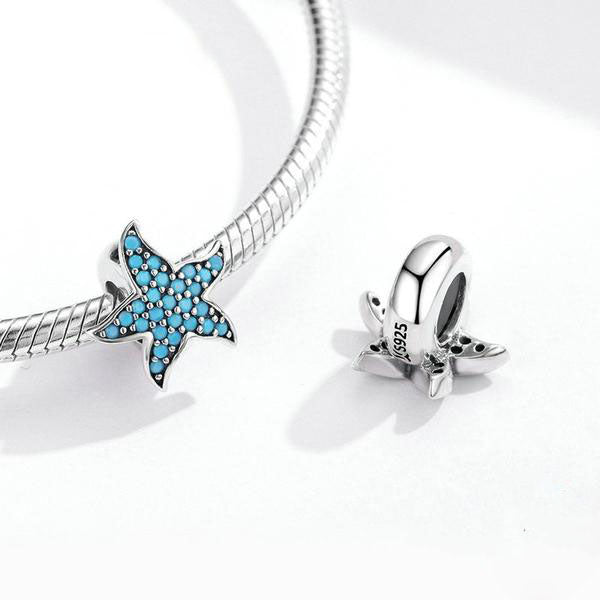 Blue Starfish Stopper Charm