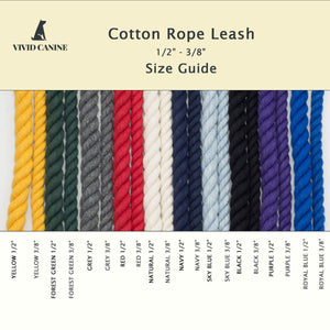 Cotton Rope Dog Leash - Burgundy - Vivid Canine