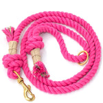 Cotton Rope Dog Leash - Hot Pink - Vivid Canine