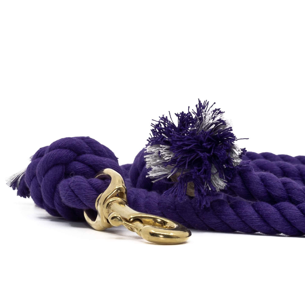 Cotton Rope Dog Leash - Purple - Vivid Canine