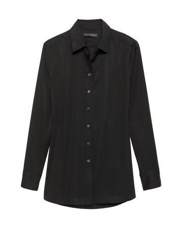 Parker Tunic-Fit Shirt in Black