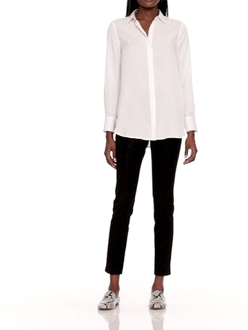 Parker Tunic-Fit Shirt in White