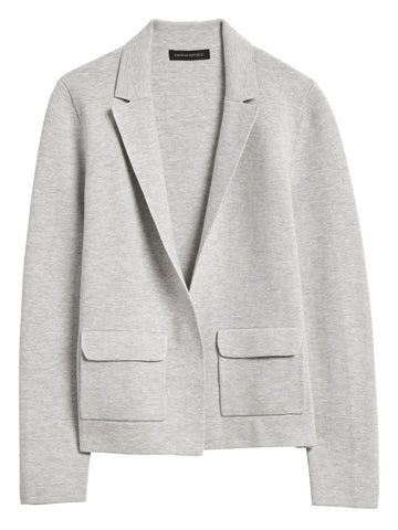 Sweater Blazer in Heather Gray