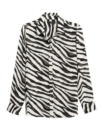 Dillon Classic-Fit Shirt in Zebra Print