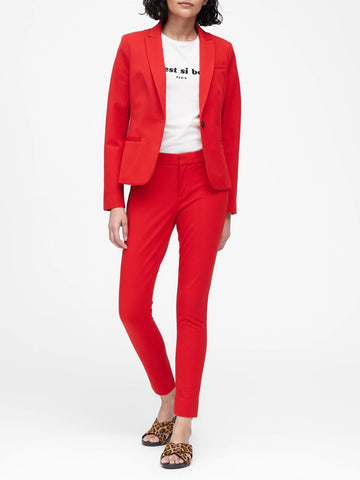 Classic-Fit Blazer in Hot Red
