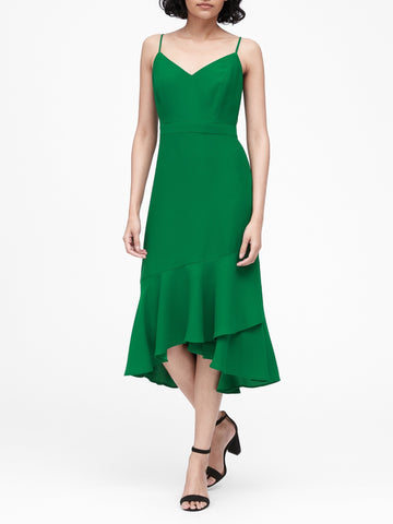 Midi Sheath Dress in Kelly Green