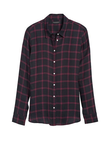 Dillon Classic-Fit Flannel Shirt in Navy