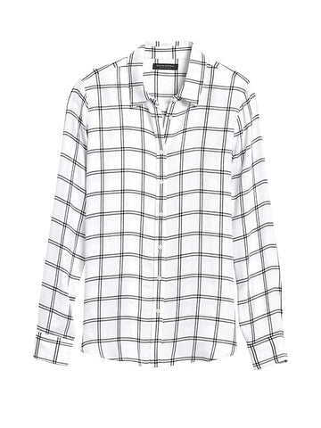 Dillon Classic-Fit Flannel Shirt in White