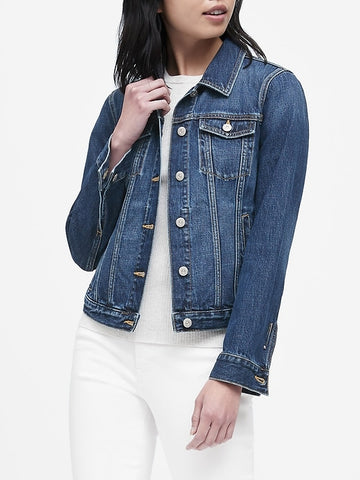Denim Trucker Jacket in Medium Wash