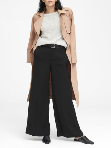 High-Rise Wide-Leg Pant in Black