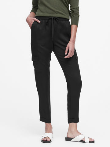 TENCEL Utility Jogger Pant in Black