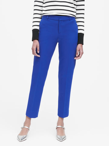 Avery Straight-Fit Ankle Pant in Dreamy Royal Blue