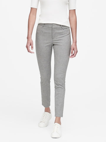 Petite Modern Sloan Skinny-Fit Pant in Dark Gray