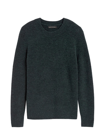 Aire Crew-Neck Sweater in Deep Green