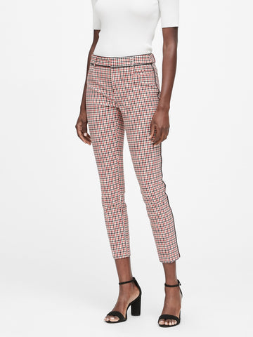 Modern Sloan Skinny-Fit Pant in Ultra Red Houndstooth