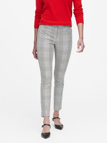 Modern Sloan Skinny-Fit Pant in Black & White Plaid
