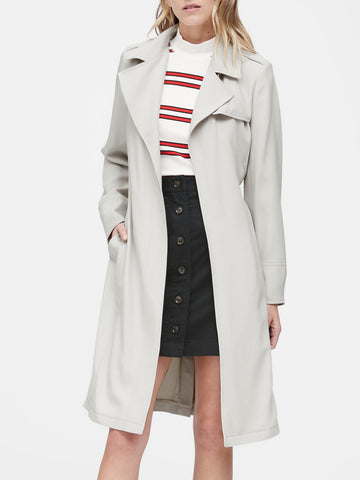 Soft Trench Coat in Bone