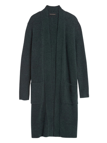 Aire Duster Cardigan Sweater in Deep Sea Green