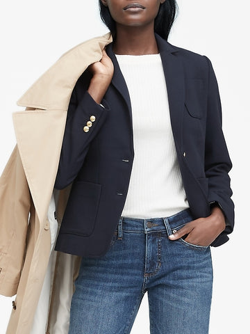 Hacking Jacket in Navy Blue