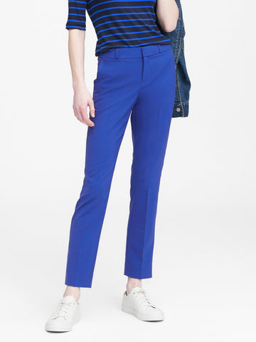 Ryan Slim Straight-Fit Wool-Blend Pant in Cobalt Blue
