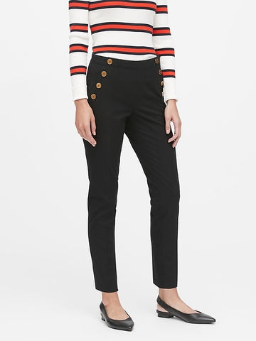 Modern Sloan Skinny-Fit Sailor Pant in Black