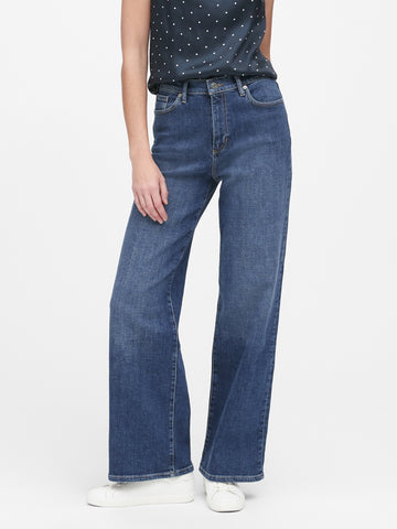 High-Rise Wide-Leg Jean in Indigo