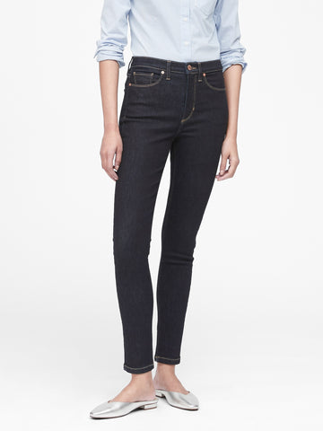 High-Rise Skinny Jean in Dark Indigo