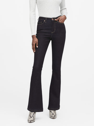 High-Rise Flare Jean in Rinse