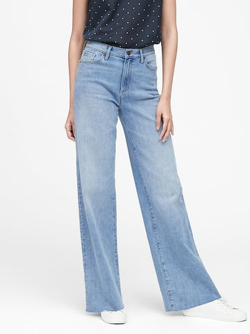 High-Rise Wide-Leg Jean in Light Wash